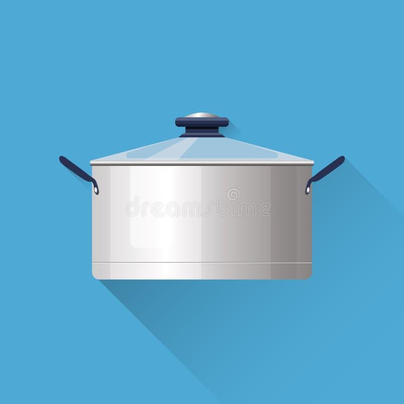 Kasserollenillustration Sechs Gabeln auf einem weißen Hintergrund Kochen des Materials Flaches Design Auch im corel abgehobenen B stock abbildung