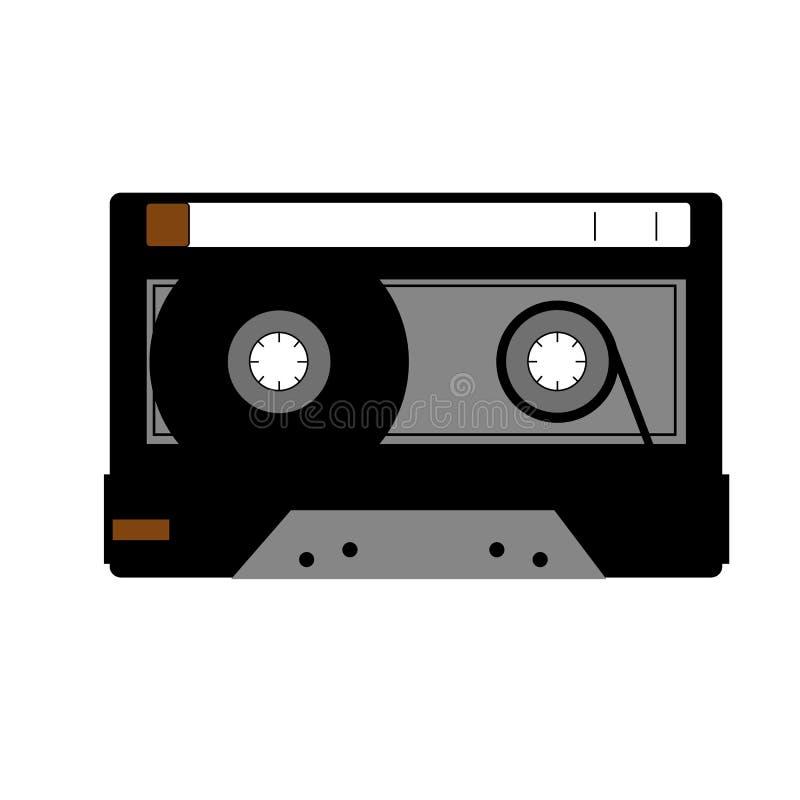 kassett royaltyfri illustrationer