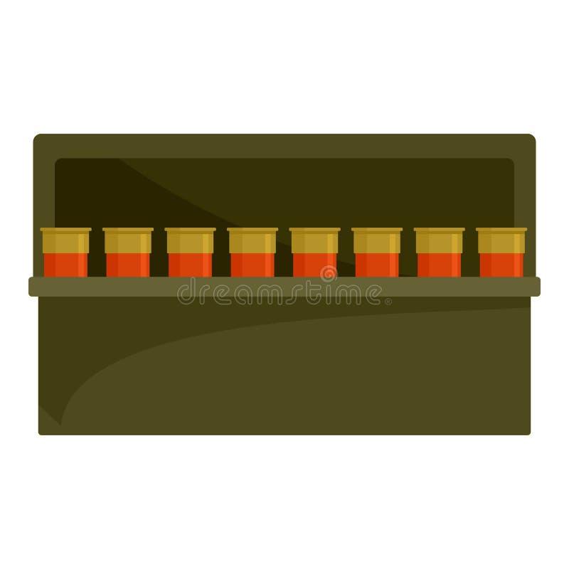 Kassettasksymbol, plan stil stock illustrationer