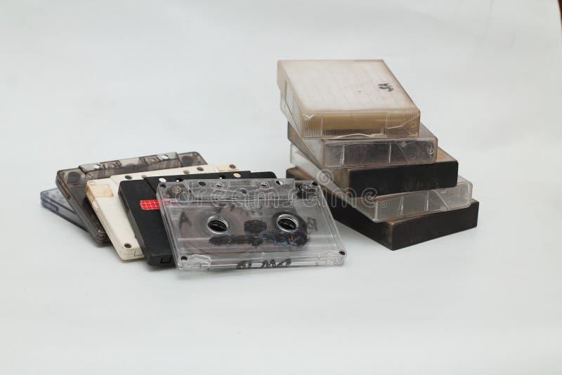 Kassettband, är en parallell magnetisk bandning, version 3 arkivbilder