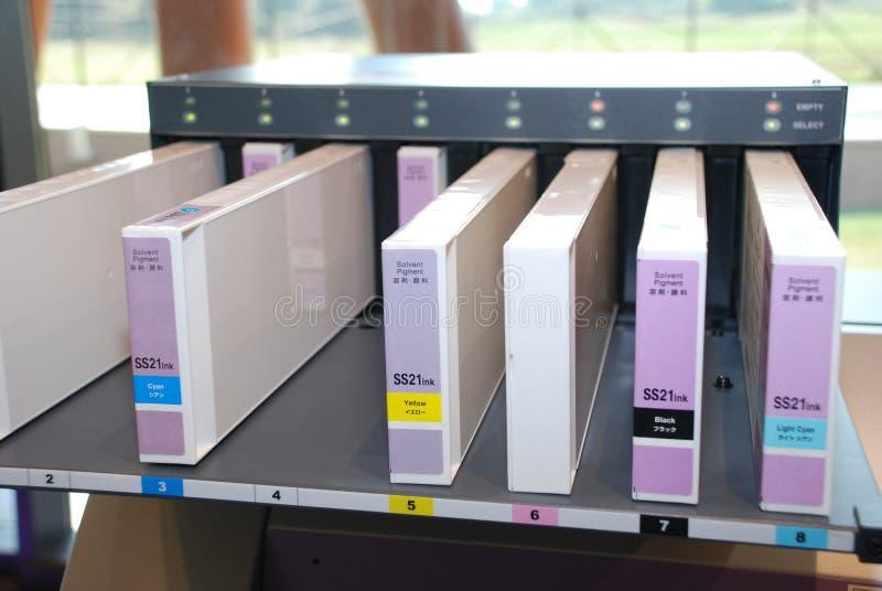 kassettbläckstrålar arkivbilder