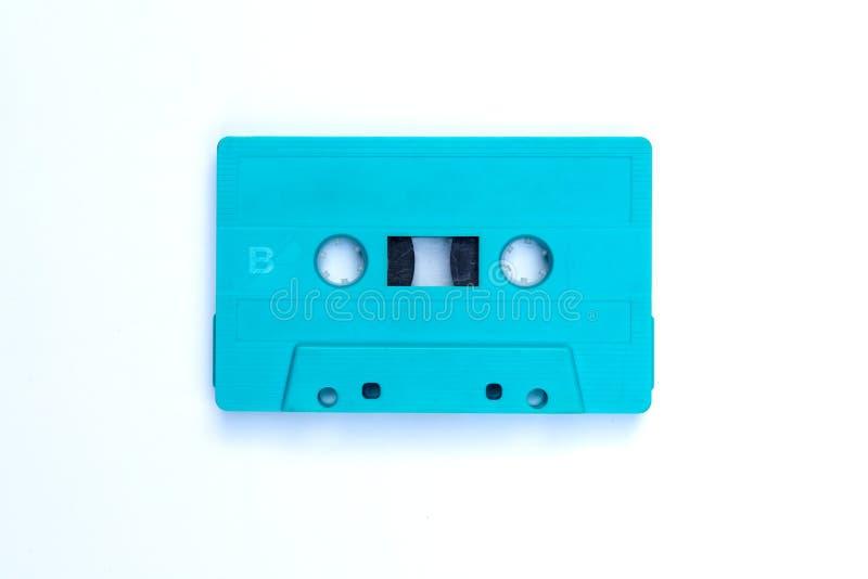 Kassette auf einem weißen Hintergrund stockbilder
