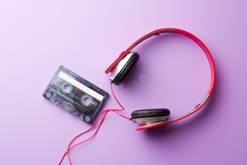 Kassette und Kopfhörer stockfotografie