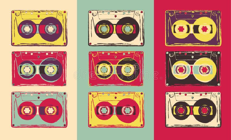 kassetten stock abbildung