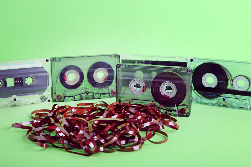 Kassetten stockfotografie