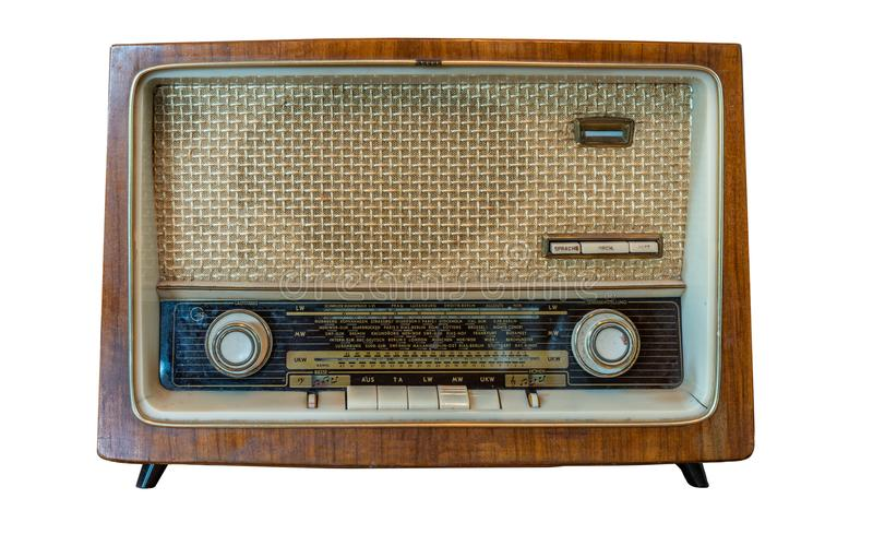 Kassettenrecorder des Weinlese-portablen Radios stockbild