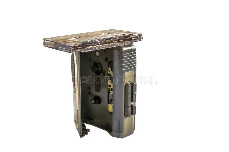 Kassettenrecorder mit Kassette stockfoto