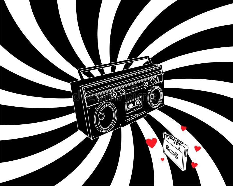 kassettförälskelseregistreringsapparat vektor illustrationer
