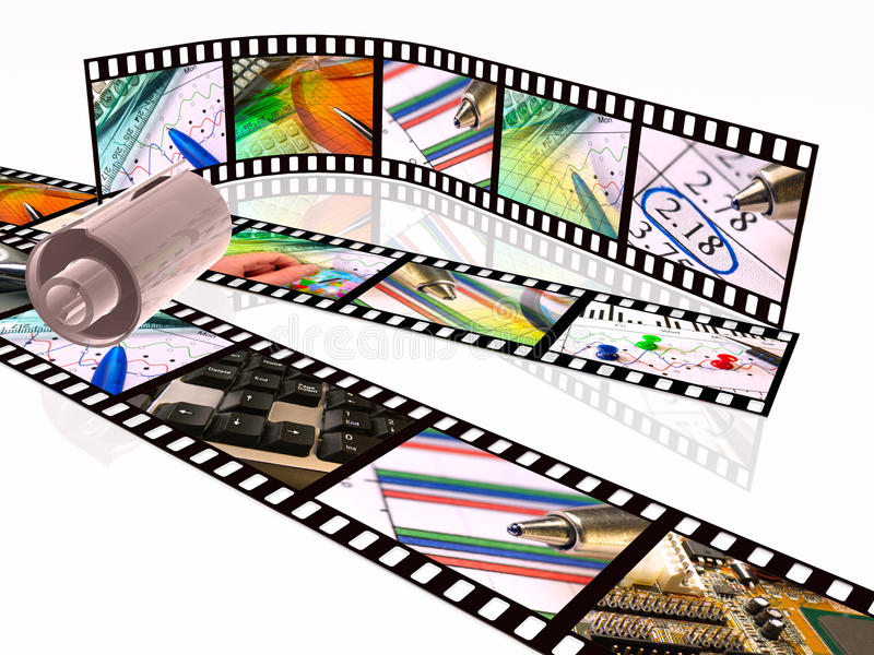 kassettfilmremsor vektor illustrationer