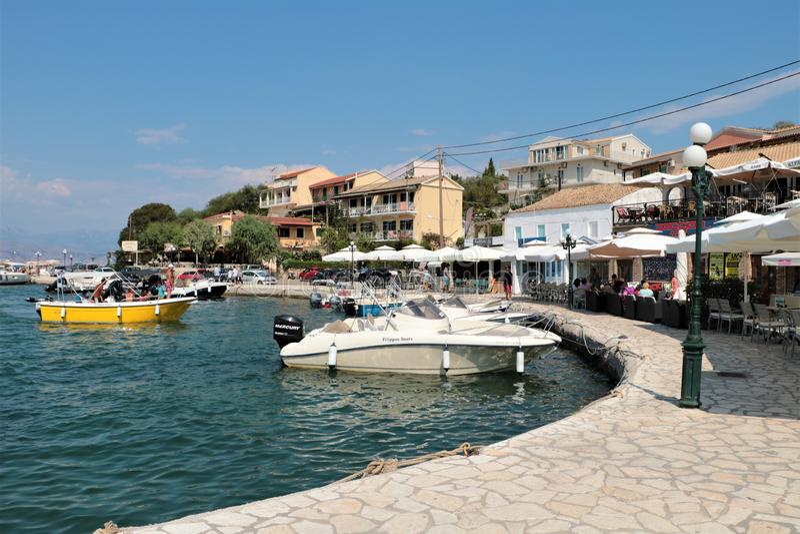 Kassiopi, Korfu, Griekenland royalty-vrije stock foto's