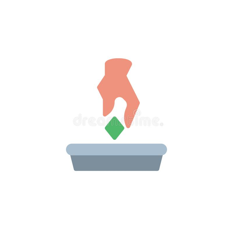 Kasta den plana symbolen för avskräde vektor illustrationer
