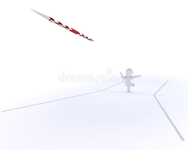 kasta för javelinman vektor illustrationer