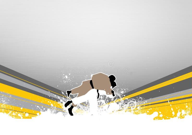 kasta för judo royaltyfri illustrationer