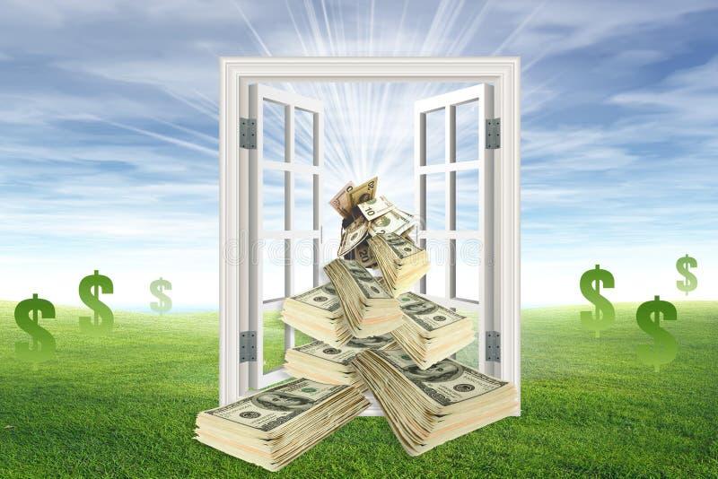 kasta för pengar stock illustrationer