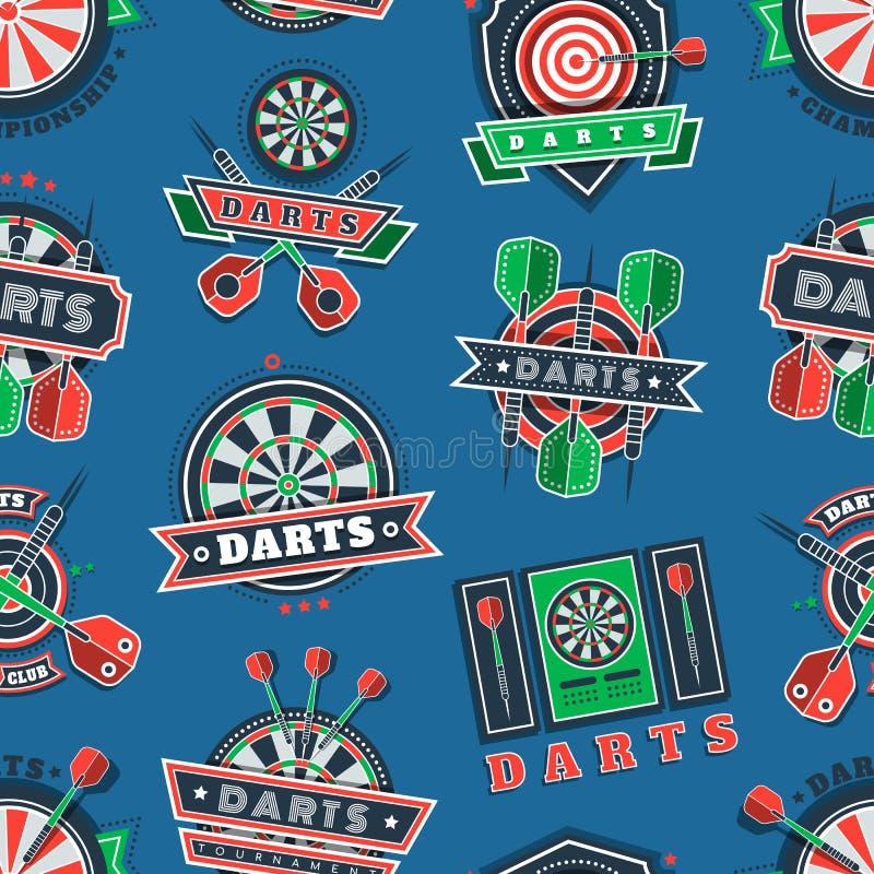 Kasta sig turneringsymboler och förser med märke den sömlösa modellen royaltyfri illustrationer