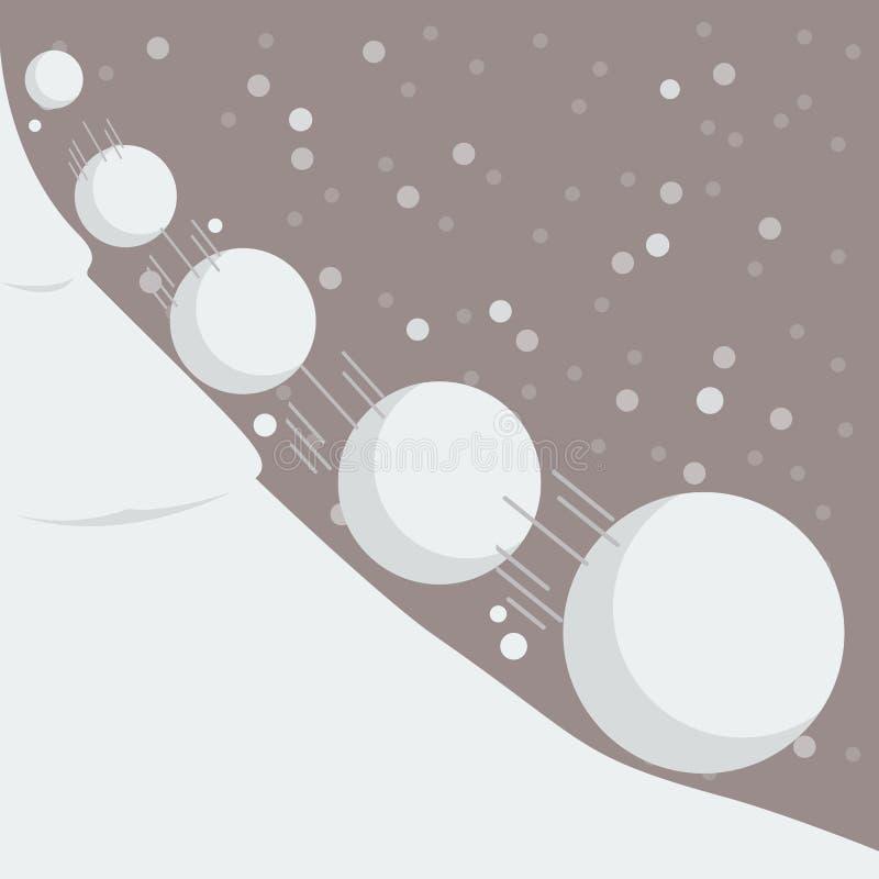 Kasta snöboll effekt stock illustrationer