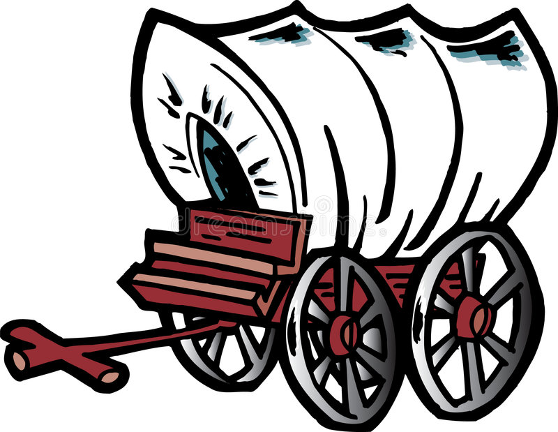 kasta vagnen vektor illustrationer