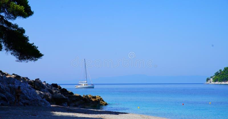 Kastani plaża, Skopelos zdjęcia royalty free