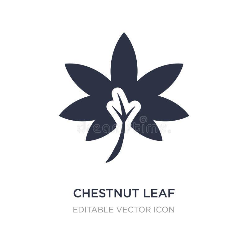 Kastanienblattikone auf weißem Hintergrund Einfache Elementillustration vom Naturkonzept lizenzfreie abbildung