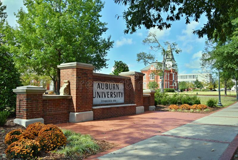 Kastanjebruine die Universiteit in Kastanjebruin, Alabama wordt gevestigd stock foto