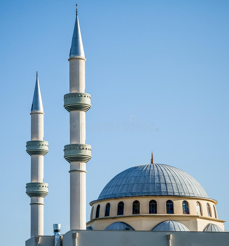 Kastanjebruine Gallipoli-Moskee in Sydney, Australië stock foto's
