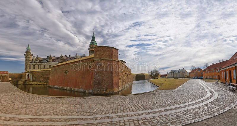 Kasteel 15 van Kronborg stock fotografie