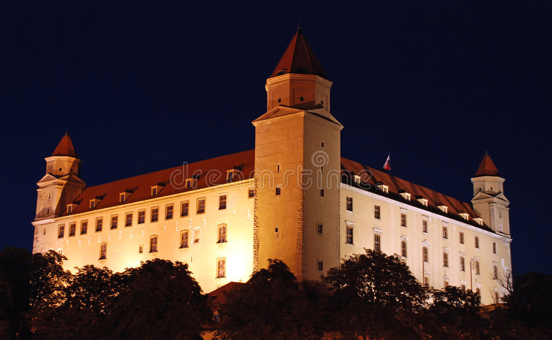 Kasteel 2 van Bratislava royalty-vrije stock foto's