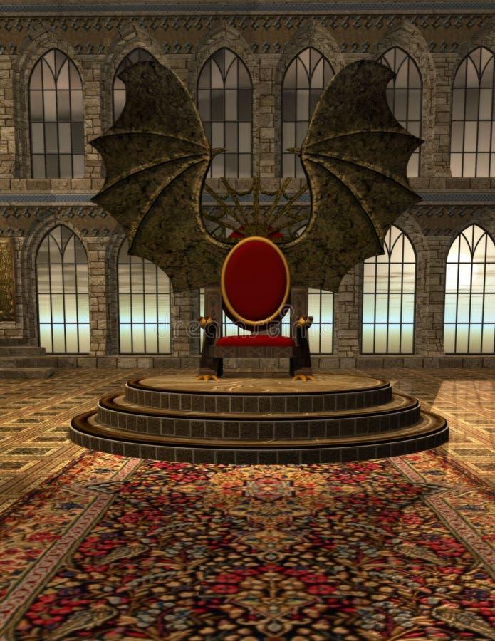 Kasteel 2 van Dracula royalty-vrije illustratie