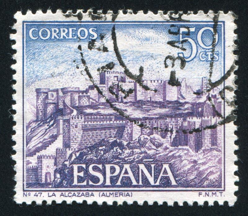 Kasteel Alcazaba royalty-vrije stock afbeelding