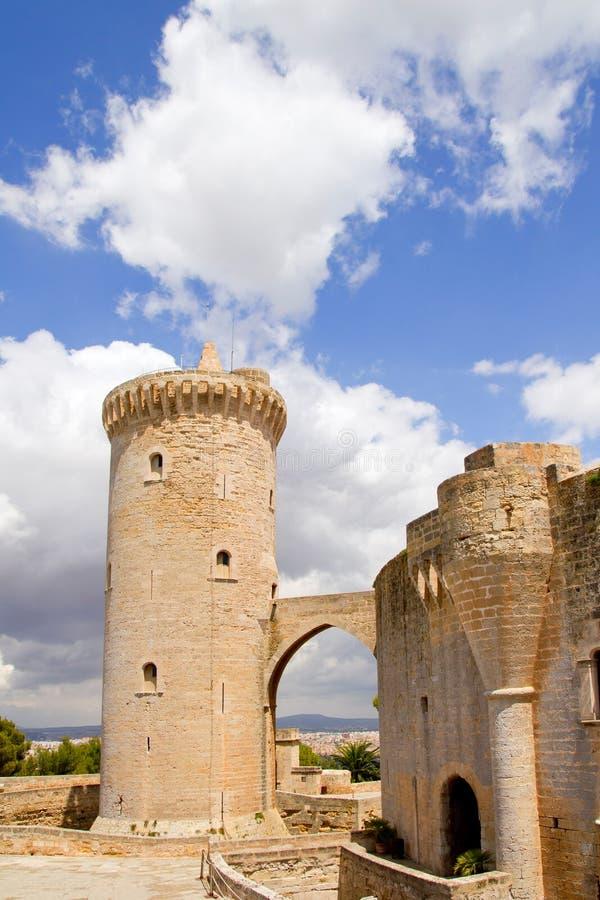 Kasteel Bellver in Majorca in Palma van Mallorca stock afbeelding