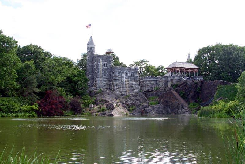 Kasteel bij Central Park royalty-vrije stock afbeelding