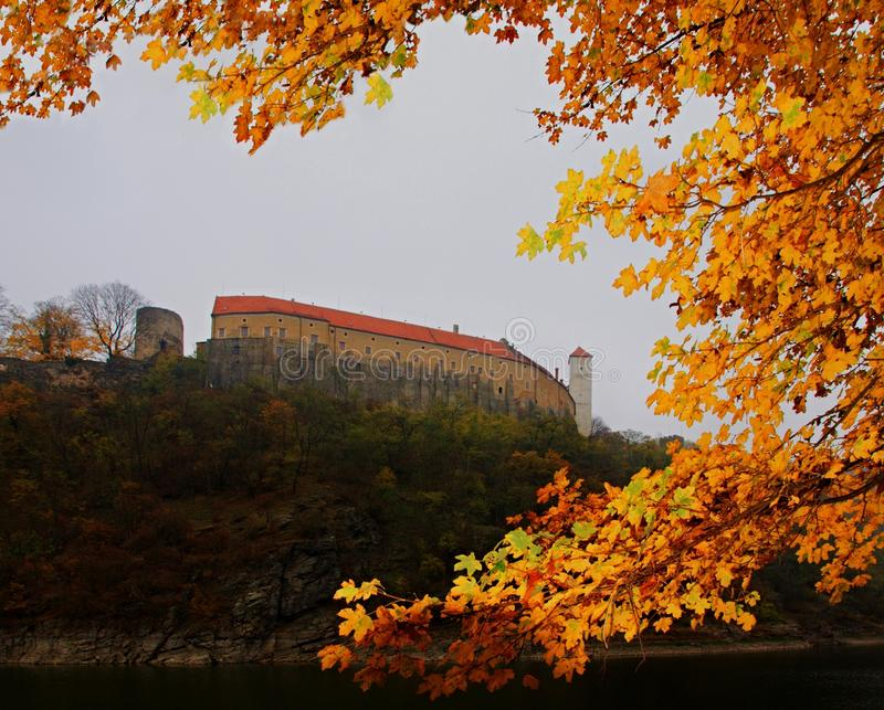 Kasteel Bitov in Tsjechische Republiek royalty-vrije stock foto's