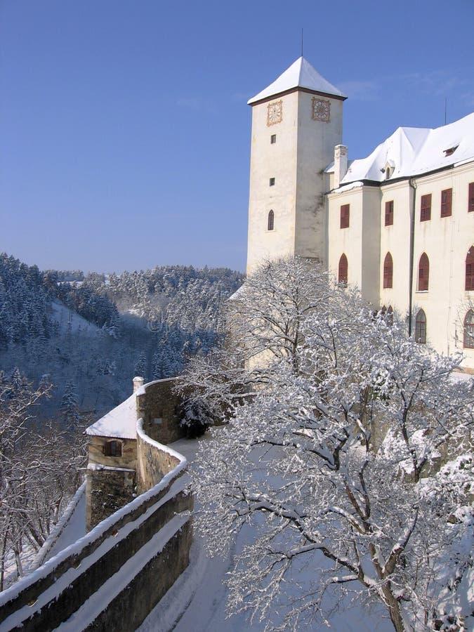 Kasteel Bitov, Tsjechische Republiek, Europa royalty-vrije stock afbeelding