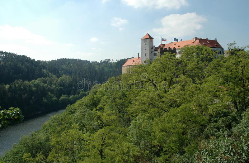 Kasteel Bitov, Tsjechische Republiek, Europa royalty-vrije stock foto's