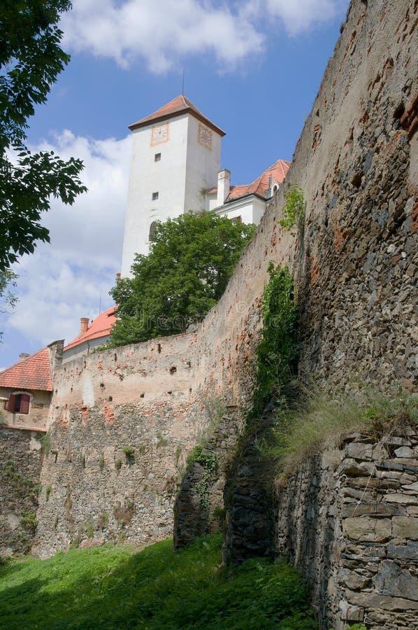 Kasteel Bitov in Zuidelijk Moravië, Tsjechische republiek stock afbeelding