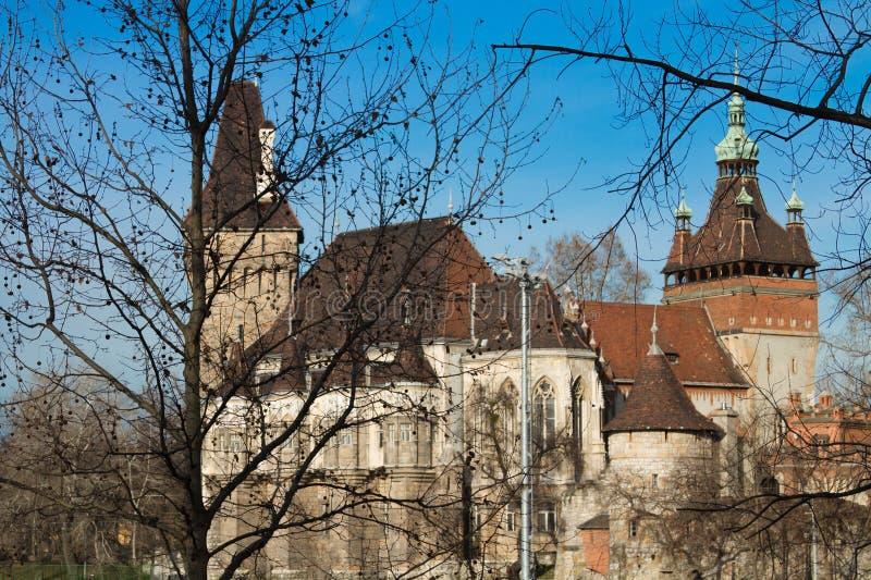 Kasteel in Boedapest stock afbeelding