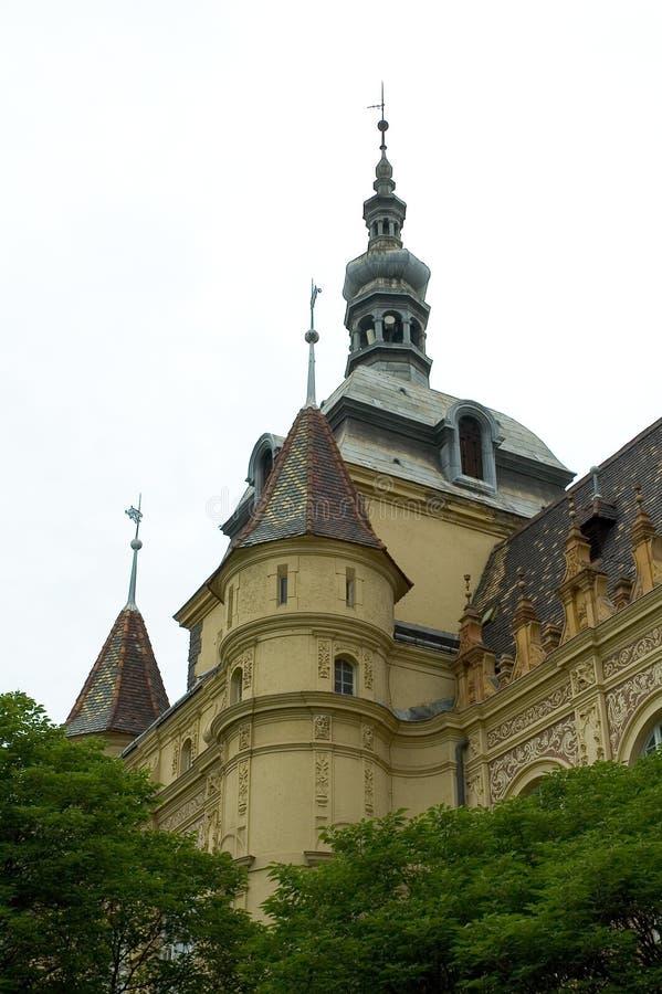 Kasteel in Boedapest, Hongarije 4 royalty-vrije stock foto