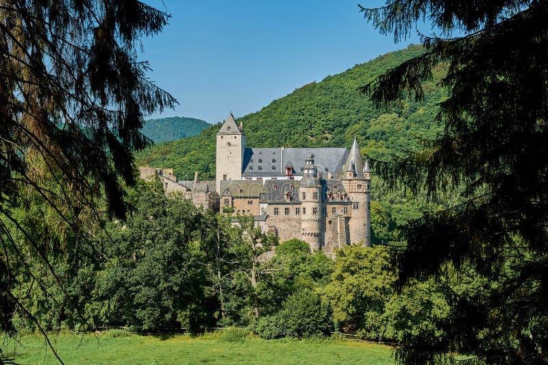 Kasteel Buerresheim stock foto's