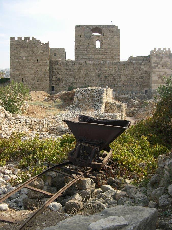 Kasteel in Byblos, Libanon royalty-vrije stock foto's