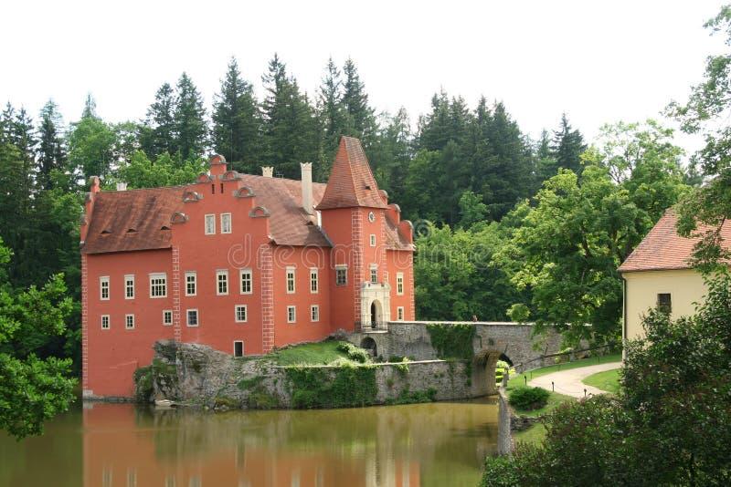 Kasteel Cervena Lhota, Tsjechische republiek stock afbeeldingen