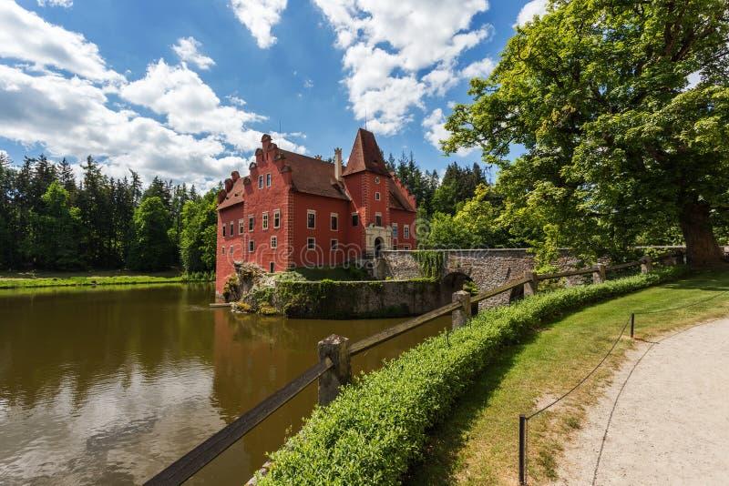 Kasteel Cervena Lhota in Tsjechische republiek stock foto