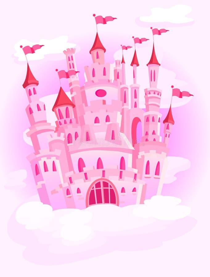Kasteel in de hemel royalty-vrije illustratie