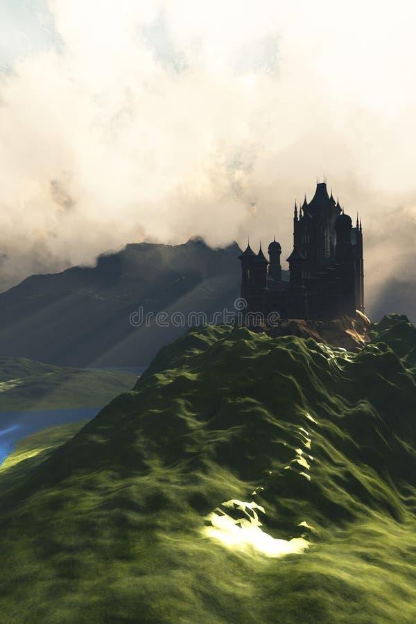 Kasteel in de Mist stock fotografie