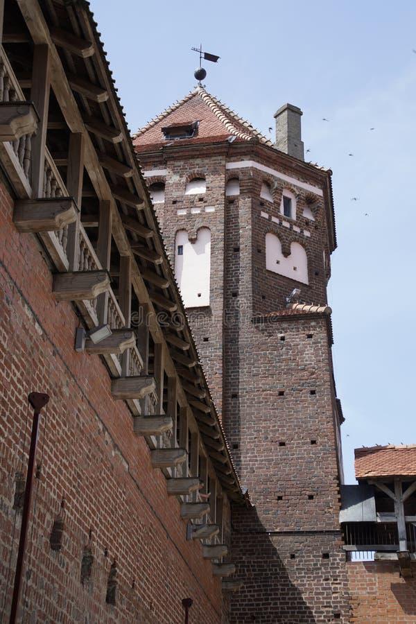 Kasteel in de stad van Mir, die sinds het eind van de veertiende eeuw wordt gekend royalty-vrije stock foto's