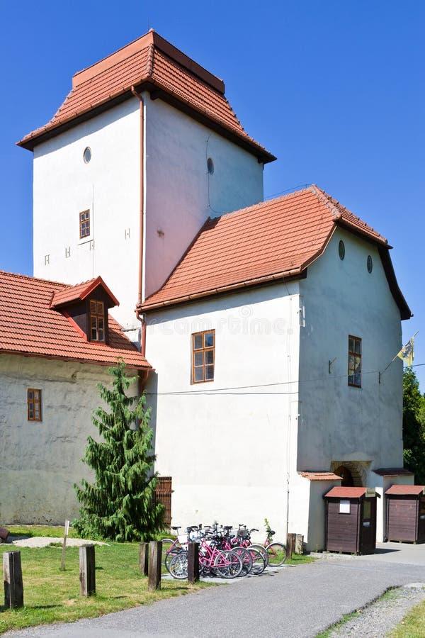 Kasteel, de stad van Ostrava, Noord-Moravië, Tsjechische republiek stock afbeelding