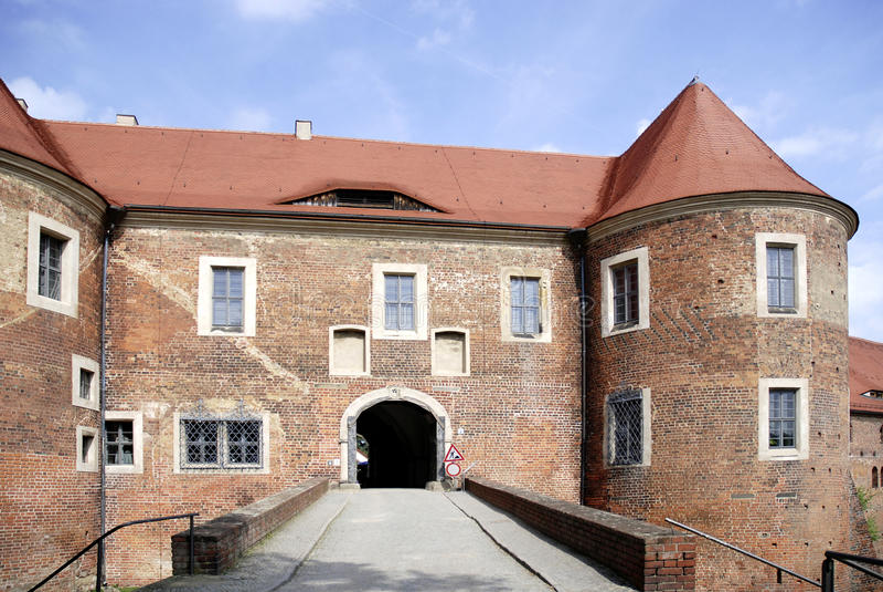 Kasteel Eisenhardt in Slechte Belzig - Duitsland stock foto's