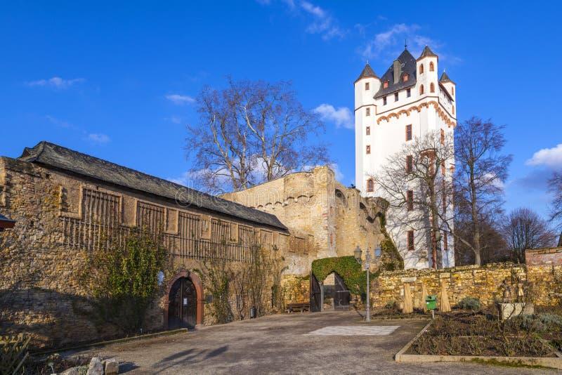 Kasteel in Eltville in Duitsland royalty-vrije stock afbeeldingen
