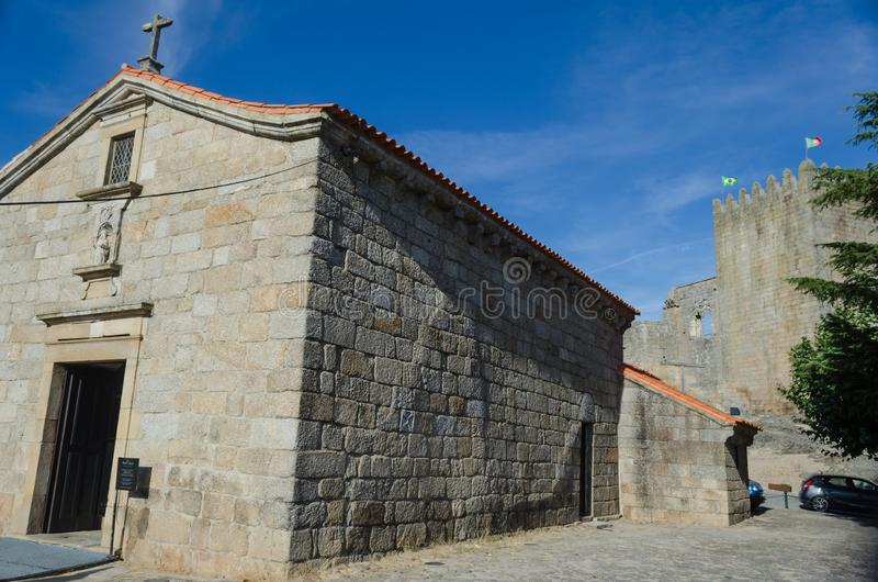 Kasteel en Kerk van Santiago, Cabral-familiepantheon in Belmonte portugal stock afbeeldingen