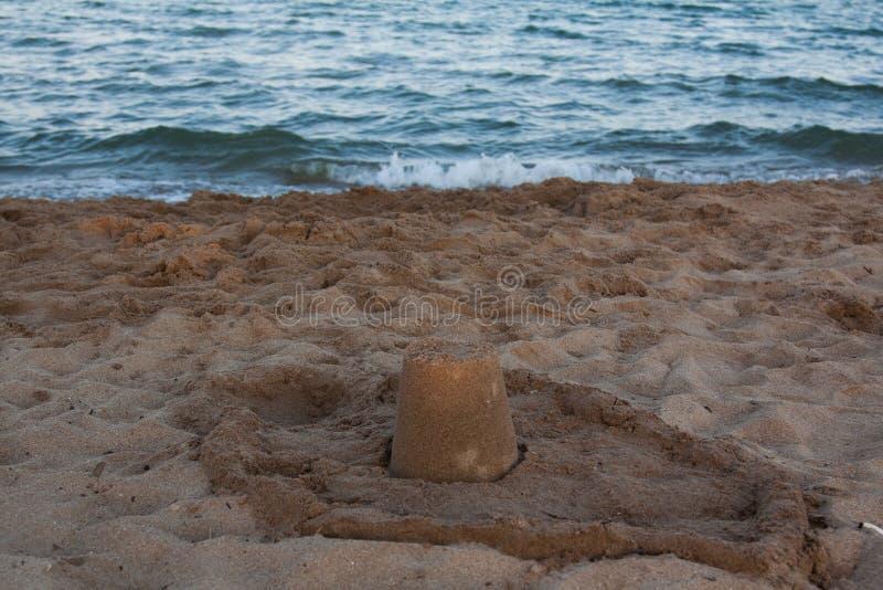 Kasteel en toren van zand royalty-vrije stock afbeelding