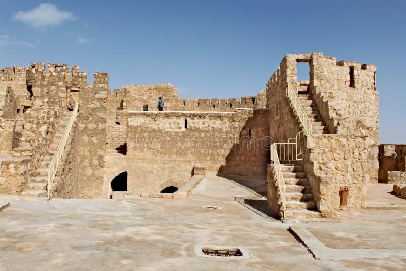 Kasteel fakhr-al-DIN al-Maani Ruïnes van de oude stad van Palmyra royalty-vrije stock foto's